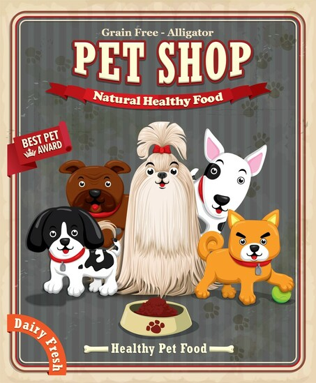 BEG Dog food label example