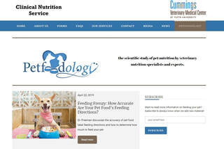 Petfoodology blog by Tufts University