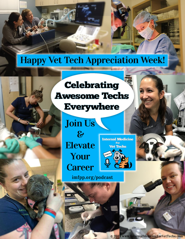 Vet Tech Appreciation Week Flyer from Internal Medicine For Vet Techs